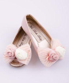 http://www.zulily.com/invite/vhanson979 Loving this Pink Lace Rosette Peep-Toe Ballet Flat on #zulily! #zulilyfinds