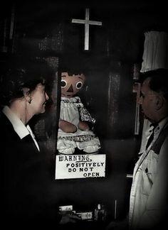 Ed & Lorraine with Annabelle