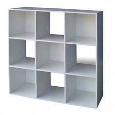 Libreria-Moderna-A-Giorno-In-Legno-Cubo-9-Bianco-Cm-91x91-C-33580