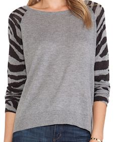 Grey long sleeve animal print sweater