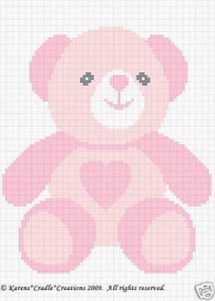 TEDDY-GIRL-BEAR-Color-Graph-Baby-Afghan-Pattern-EASY