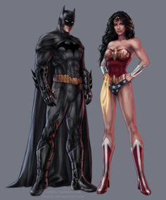 Part of the Justice League piece I did inspired by the work of Jim Lee: .Of course I had to create a separate picture with these two beaut. Batman and Wonder Woman Batman Wonder Woman, Wonder Women, Comic Book Characters, Comic Book Heroes, Comic Books, Comic Art, Comic Pics, Fictional Characters, Chun Li
