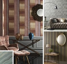 Take an exciting new approach to wallpaper! Our new Elements wallpapers are inspired by weather worn walls, distressed patterns and tactile interest.