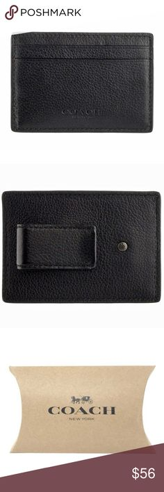 """Coach Men's Money Clip Card Holder Case Wallet item# 272899236709  100% Authentic Coach!  Buy with confidence!  • MSRP: $95.00  • Style: F75459  Features:  • Material: Calf leather  • Fabric Lining  • 2 slip pockets on front  • Open center pocket for extra cards  • Clip money holder on back  • Measures approx: Height 2.3/4"""", Length 3.7/8""""  • Comes with Coach gift box  Please feel free to ask any questions. Happy shopping! Coach Bags Wallets"""