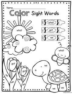 May In Kindergarten Freebies Keeping My Kiddo Busy Sight Words Kindergarten Sight Word Coloring Kindergarten Freebies