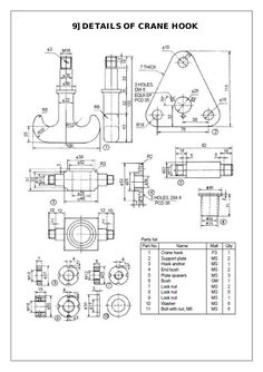 Drawings Assembly and Details machine drawing pdf Mechanical Projects, Mechanical Engineering Design, Mechanical Design, 3d Drawings, Detailed Drawings, Technical Drawings, Drawing Practice, Drawing Skills, Plan Drawing