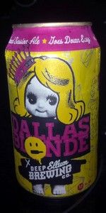 Dallas Blonde is a American Blonde Ale style beer brewed by Deep Ellum Brewing Company in Dallas, TX. 79 out of 100 with 177 ratings, reviews and opinions.