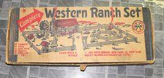 Western Ranch Set Marx Play Set 1960s #westernranchset #marxplaysets #playsets #marx #vintage #collectibles #toys #vintagetoys