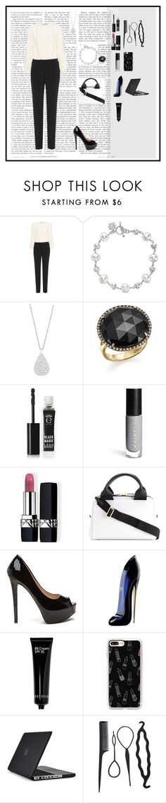 """Business Meeting 🏢"" by oksana-kolesnyk ❤ liked on Polyvore featuring Vanessa Bruno, Dower & Hall, Estella Bartlett, Bloomingdale's, Eyeko, JustFab, Christian Dior, Marni, Carolina Herrera and Bobbi Brown Cosmetics"