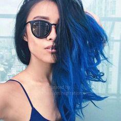 asian fashion blue tresses