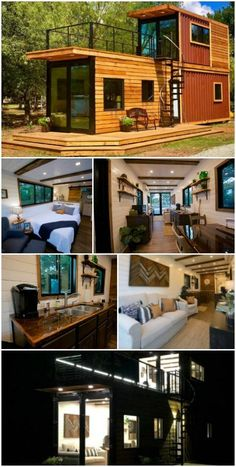 Building A Container Home, Container House Plans, Container House Design, Tiny House Design, Storage Container Houses, Container Van, Container Buildings, Cargo Container, Tiny House Company