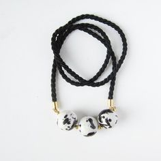 NEW - Black and white necklace. $36.00, via Etsy.