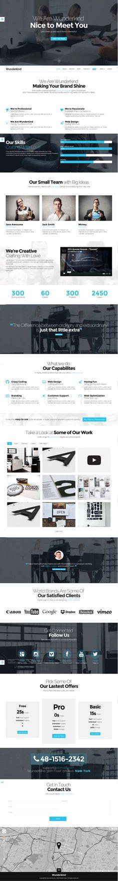 Wunderkind - One Page Parallax WordPress Theme #businesswordpressthemes #responsivedesign #wpthemes #html5 #wordpressthemes2014