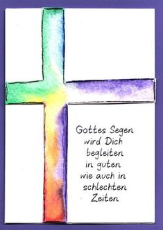 Make a card for communion, confirmation or baptism. With a beautiful saying and cross in watercolor technique Sie sind an dieser richtigen Stelle pro Kommunion. Birthday Cards For Boyfriend, Birthday Cards For Boys, Presents For Boyfriend, Diy Birthday, Birthday Presents, Diy Wedding Bouquet, Diy Wedding Flowers, Communion, Diy Presents