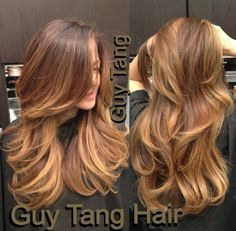 Warm chocolate base with creamy caramel ombré by Guy Tang | Yelp