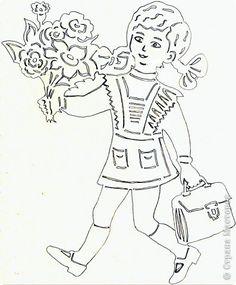 Картина панно рисунок Начало учебного года Вырезание Дети в школу собирайтесь Бумага фото 7 Kirigami, Art School, Paper Cutting, My Love, Decor, Paper Envelopes, Papercutting, Coloring Pages, School