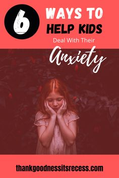 Anxiety is real, and it's very real for kids. Some of them suffer in silence because they don't have the tools to handle it. We need to help them! Check out this helpful post and learn 6 ways to help kids deal with their anxiety!