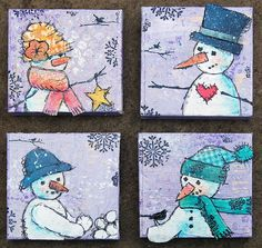 Snowman-mini-canvases by jenni.hamilton, via Flickr