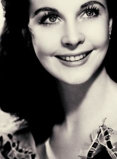 Vivian Leigh, rare to see a full smile