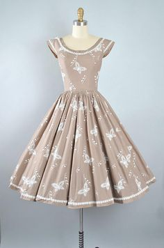 Vintage 50s Pat Premo Dress / 1950s Cotton Sundress Novelty