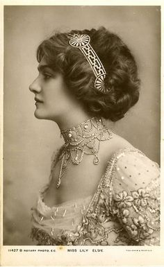 Lily Elsye - 1900s theater actress. Intrigued.