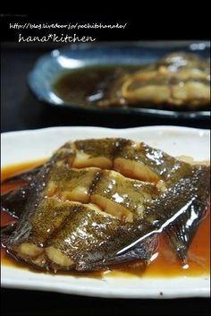 ヒラメのレシピ】ひらめのお煮つけ♪と、おいしい煮魚のコツ。 by ...