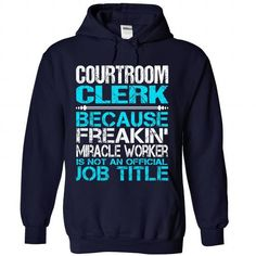 Awesome Shirt For Courtroom Clerk - #birthday shirt #hipster shirt. LOWEST SHIPPING => https://www.sunfrog.com/LifeStyle/Awesome-Shirt-For-Courtroom-Clerk-4170-NavyBlue-Hoodie.html?68278