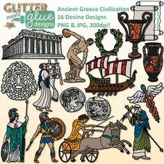 Ancient Greece Civilization Clipart - Social Studies, Gods, Goddesses & More! #history #art #clipart #tpt #teacherspayteachers #education #ancientgreece #socialstudies #history