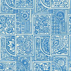 Cole & Son Mariinsky Damask Collection - Bellini Wallpaper - 108/9045 ($86) ❤ liked on Polyvore featuring home, home decor, wallpaper, blue, damask home decor, floral home decor, floral wallpaper, blue floral wallpaper and floral damask wallpaper