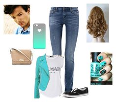 Going to see a movie with Louis by harrystylesandliampayne on Polyvore featuring mode, Balmain, Weekend Max Mara, Vans and Marc by Marc Jacobs