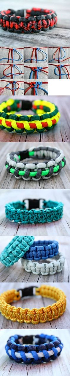 Root Node Bracelets DIY Projects / on imgfave Shoelace Bracelet, Paracord Bracelets, Survival Bracelets, Charm Bracelets, Paracord Projects, Diy Projects, Diy Cadeau Noel, Diy Accessoires, Bijoux Diy