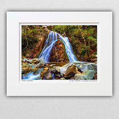 120501-132 Chantara Waterfalls. 8x10 Matted Photograph, Nature Landscape. Best for Home and Office Wall Art Room Decor. *** Read more reviews of the product by visiting the link on the image. (Amazon affiliate link)