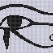 Eye of Horus Cross Stitch Pattern  - via @Craftsy