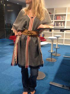 DIY sying, poncho, cape. Et belte på ponchoen er praktisk - og fint.