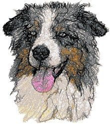 Aussie Machine Embroidery Design in Photo Stitch Technique Etsy Embroidery, Embroidery Hearts, Embroidery Flowers Pattern, Embroidery Hoop Art, Machine Embroidery Designs, Advanced Embroidery, Photo Stitch, Thread Painting, Dog Art