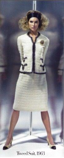1963 - Chanel tweed suit - Photo by Karl Lagerfeld for HarpersBazaar 2006