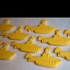 Beatles wedding theme. Yellow submarine cookies