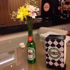 Decoração Chá Bar Decoração Boteco Heineken dos noivos