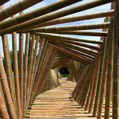 Amazing bamboo bridge architecture