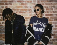 Fashion killer: Over the last few months Travis has made a few appearances on Rihanna's Instagram wall