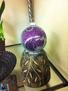 Kansas State Wildcats Sequin Christmas Ornament