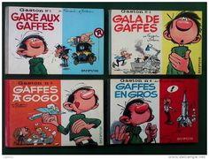 Gaston Lagaffe EXCEPTIONNEL lot n°1 à 5 en format à l´italienne de 1963 à 1967 & n° 6 à 11 format normal de 1968 à 1973