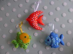 Poissons d'Avril - miniatures et petits objets - crea mireille - Fait Maison