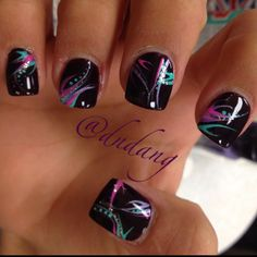 These cool nails are sure to get a lot of complements!, and guess what you don't have to say you got them done at a salon but they won't believe you !:)~Narine+Leah!