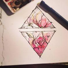 "86 Likes, 14 Comments - Evie Lee Kristiansen (@3vi3lee) on Instagram: ""Niceprice dersom noen vil la meg tatovere denne! #drawing #tattoo #aquarelle #watercolor #flower…"""