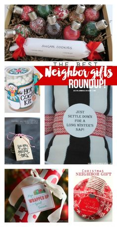 Just add a tag neighbor gift - A girl and a glue gun Diy Christmas Gifts For Coworkers, Christmas To Do List, Neighbor Christmas Gifts, Neighbor Gifts, Christmas Crafts, Christmas Ideas, Holiday Ideas, Merry Christmas, Diy Christmas Tree Topper