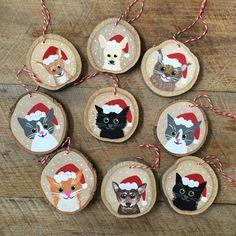 Custom Pet Ornament - Personallized Pet Ornament - Christmas Ornament - Cat Ornament - Dog Ornament - Animal Ornament by EllaSketchArt on Etsy https://www.etsy.com/listing/495688779/custom-pet-ornament-personallized-pet