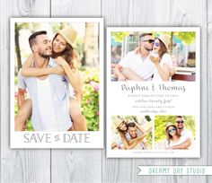 save the date template / printable save the date / simple save the date / save the date photoshop template / photo save the date template by dreamydaystudio on Etsy https://www.etsy.com/listing/219367567/save-the-date-template-printable-save