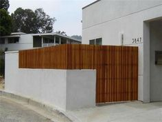 Outdoor Modern Fence in Wooden Material   Interior Trends