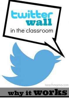 twitter wall in the classroom teachmama.com